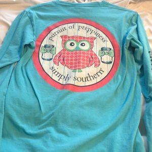 blue long sleeve simply southern shirt
